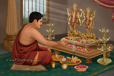 Vishnu and Lakshmi Puja