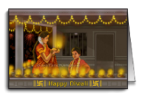 Lighting Deepmala during Diwali