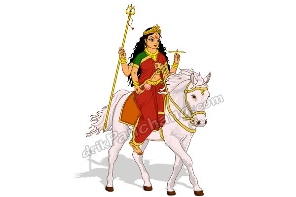 Arrival of Goddess Durga on Horse in Navratri - Omen and ...