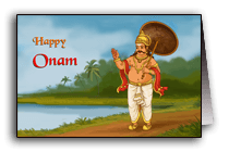 King Mahabali on Onam