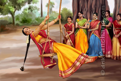 Ladies enjoying swing on Atla Tadde