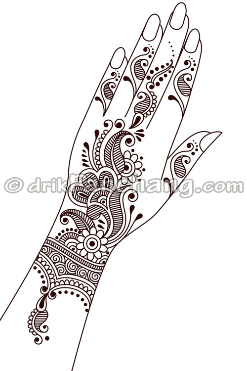 Simple Mehndi Patterns On Paper : Simple mehendi design on paper makedes