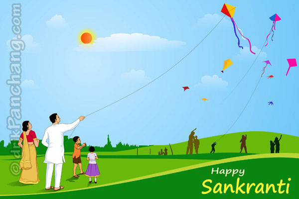 Kite Flying on Sankranti - English