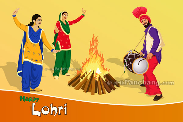 People celebrating Lohri